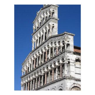 Roman Catholic basilica church in Lucca Letterhead Design