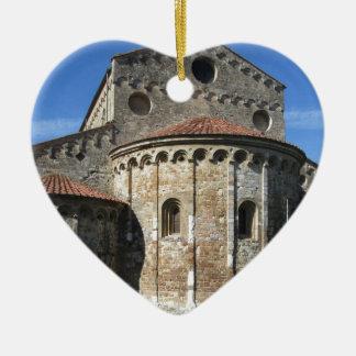Roman Catholic basilica church San Pietro Apostolo Ceramic Heart Ornament