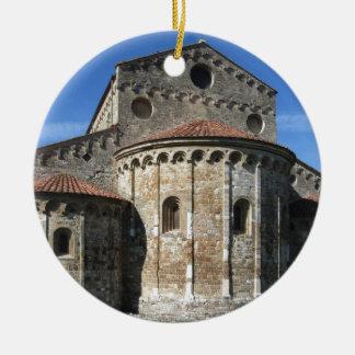 Roman Catholic basilica church San Pietro Apostolo Round Ceramic Ornament
