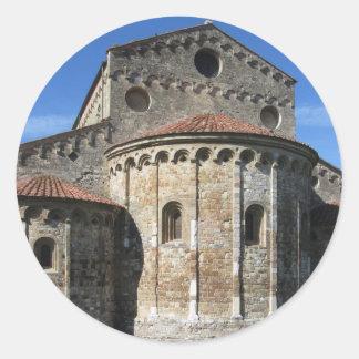 Roman Catholic basilica church San Pietro Apostolo Round Sticker