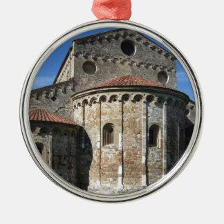 Roman Catholic basilica church San Pietro Apostolo Silver-Colored Round Ornament