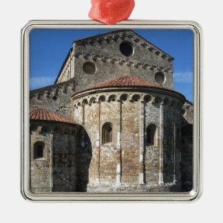 Roman Catholic basilica church San Pietro Apostolo Silver-Colored Square Ornament