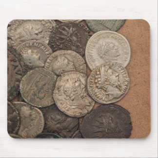 Roman coins mouse pad
