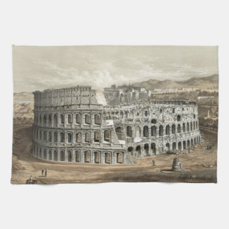 Roman Coliseum Vintage Art Kitchen Towel