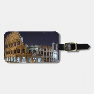 Roman Colosseum at Night Luggage Tag