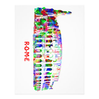 Roman Colosseum colorful architectural products Custom Letterhead