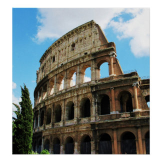 Roman Colosseum in Rome, Italy Poster