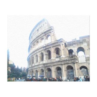 Roman Colosseum - Roman Holiday Canvas Print