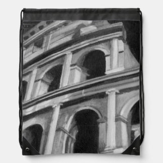 Roman Colosseum with Architectural Drawings Backpacks