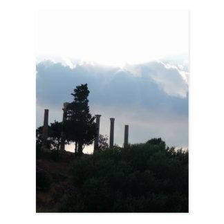 Roman Columns in Byblos Postcard