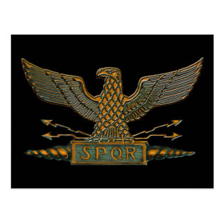 Roman Eagle Copper Finish Postcard