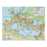 Roman Empire Map Poster