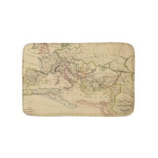 Roman Empire under Constantine and Trajan Bathroom Mat