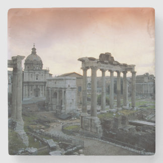 Roman Forum at dawn Stone Coaster