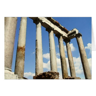 Roman Forum Dry Brush Card
