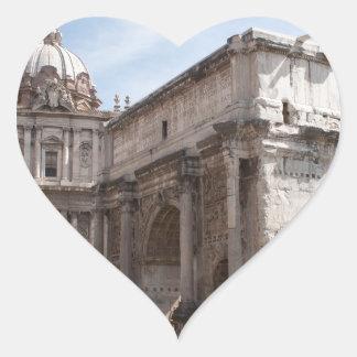 Roman Forum in Rome, Italy Heart Sticker