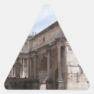 Roman Forum in Rome, Italy Triangle Sticker