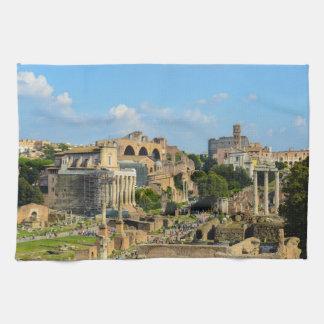 Roman Forum in Rome Kitchen Towel
