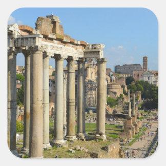 Roman Forum in Rome Square Sticker