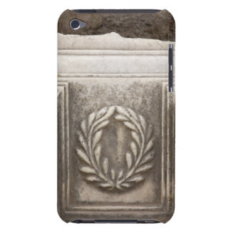 roman forum, laurel design on marble stone block iPod touch covers