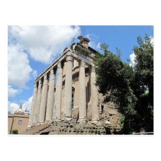 Roman Forum - Temple of Antoninus Postcard