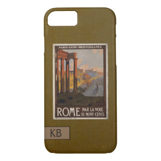 Roman Forum Vintage Travel Ad with Monogram iPhone 8/7 Case