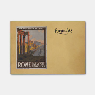 Roman Forum Vintage Travel Advertisement Post-it® Notes