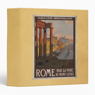 Roman Forum Vintage Travel Advertisement Vinyl Binders