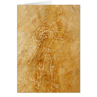 Roman Gladiator Graffiti Card