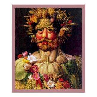 Roman God of the Seasons by Giuseppe Arcimbolodo Poster