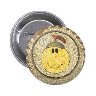 Roman Happy Face Button