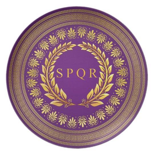 Roman Imperial SPQR Plate