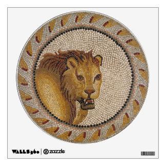 Roman Lion Mosaic Wall Decal