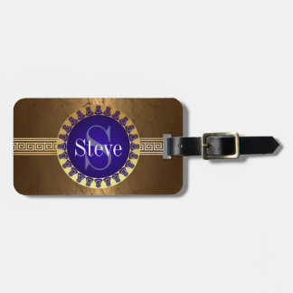 Roman Monogram Bag Tag