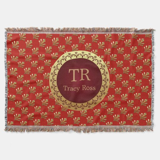 Roman Monogram Throw Blanket