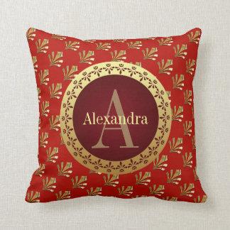 Roman Monogram Throw Pillow