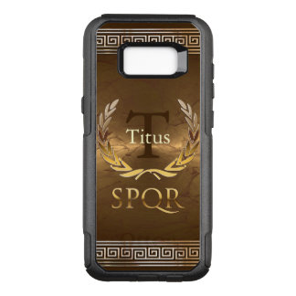 Roman Monogram With Golden Laurels Wreath OtterBox Commuter Samsung Galaxy S8+ Case
