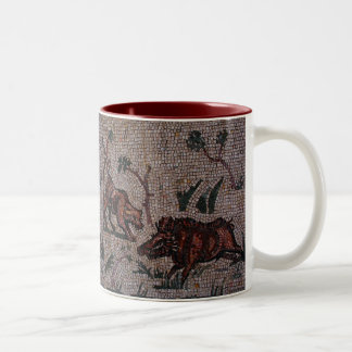 Roman Mosaic Two-Tone Coffee Mug