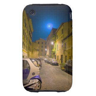 Roman neighborhood street at night iPhone 3 tough case