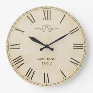 Roman Numerals Clock Face Paris France 1912