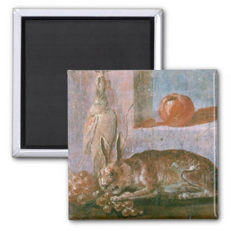 Roman Painting of Rabbit with Eating Square Magnet