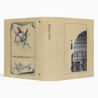 Roman Pantheon Classical Architecture 3 Ring Binders