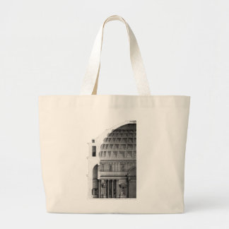 Roman Pantheon Classical Architecture Large Tote Bag