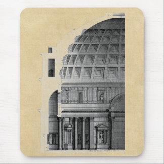 Roman Pantheon Classical Architecture Mouse Pad