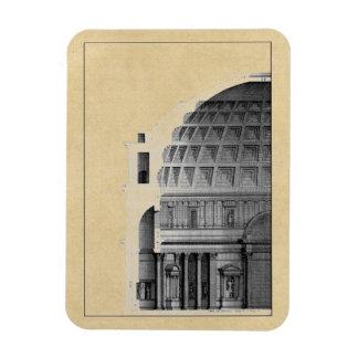 Roman Pantheon Classical Architecture Rectangular Photo Magnet