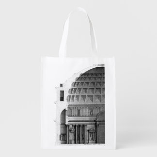 Roman Pantheon Classical Architecture Reusable Grocery Bag