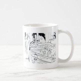 Roman playing figs to the pigs classic white coffee mug
