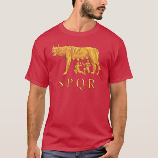 Roman Romulus, Remus, and She-Wolf Graphic T-Shirt