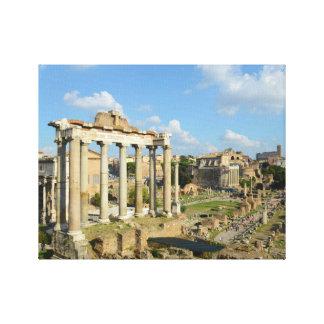 Roman Ruins in Rome Italy Canvas Print