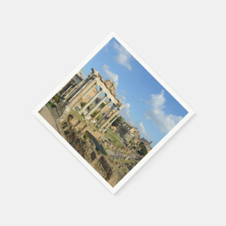 Roman Ruins in Rome Italy Disposable Napkins